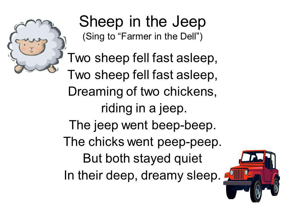 Sheep in the Jeep (Sing to Farmer in the Dell )