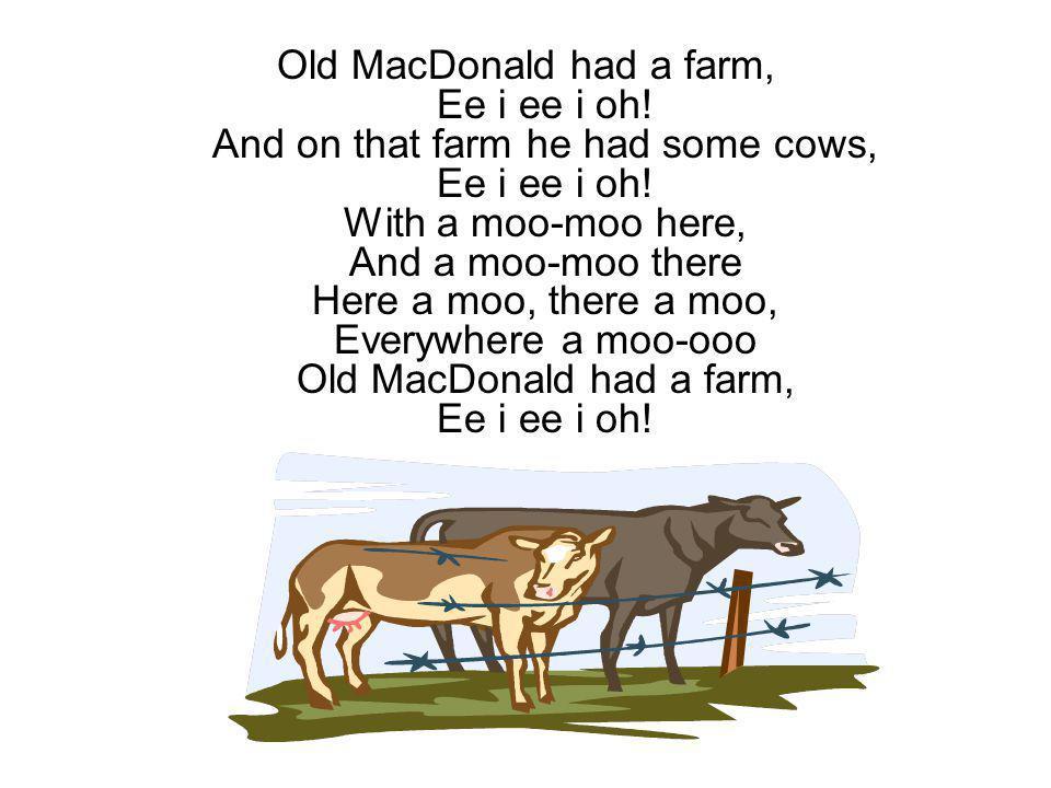 Old MacDonald had a farm, Ee i ee i oh