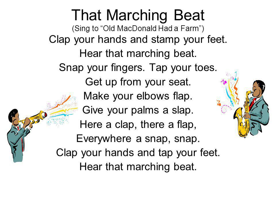 That Marching Beat (Sing to Old MacDonald Had a Farm )