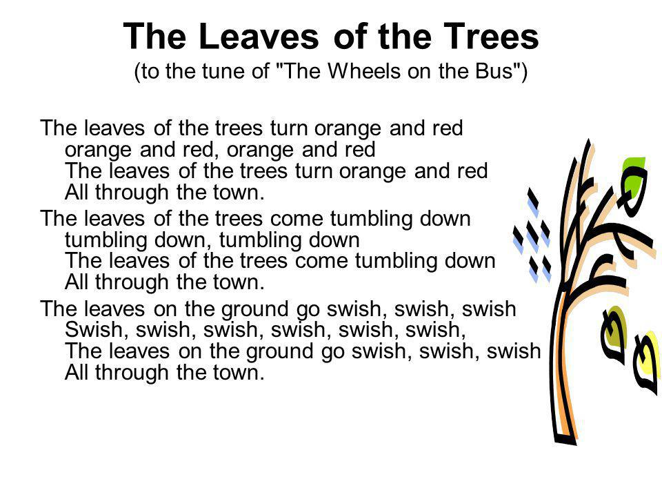 The Leaves of the Trees (to the tune of The Wheels on the Bus )