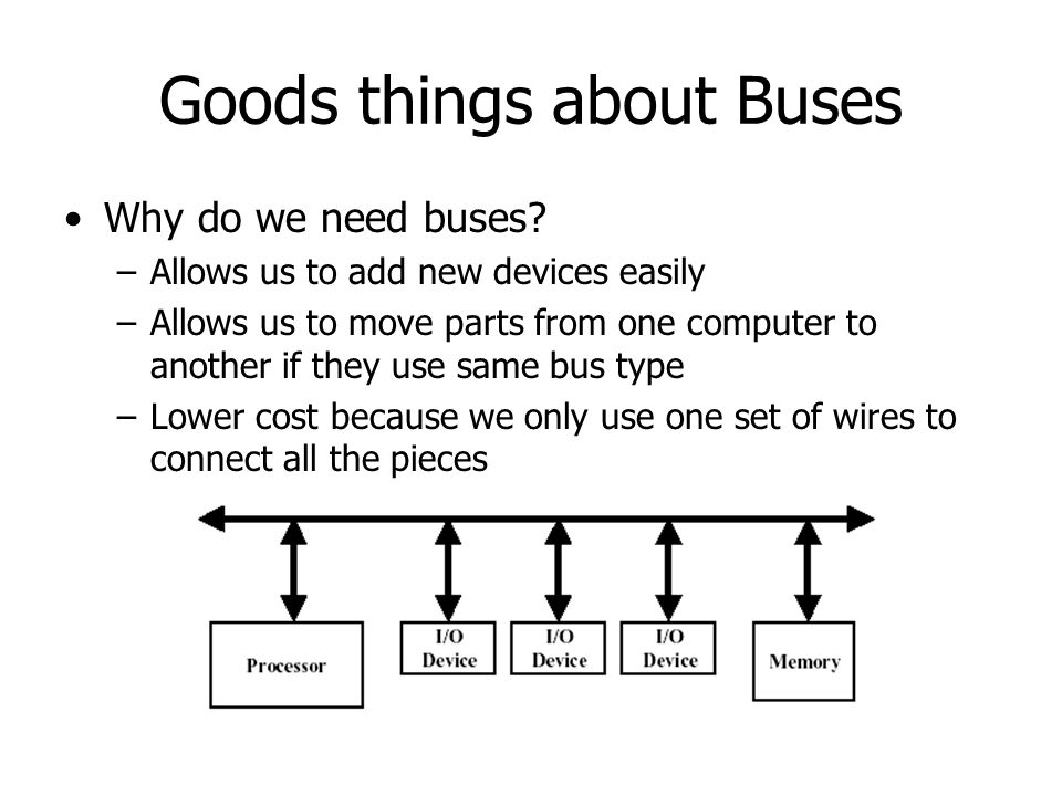 Goods things about Buses