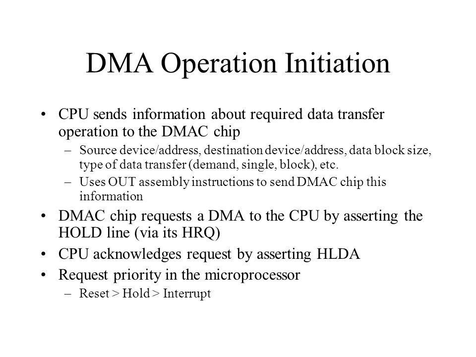 DMA Operation Initiation
