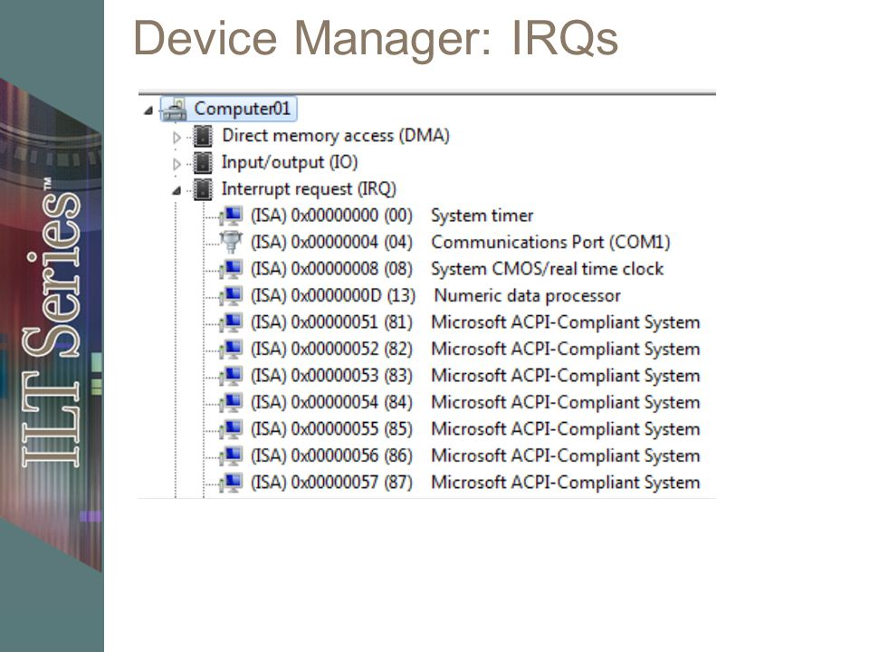Device Manager: IRQs 11