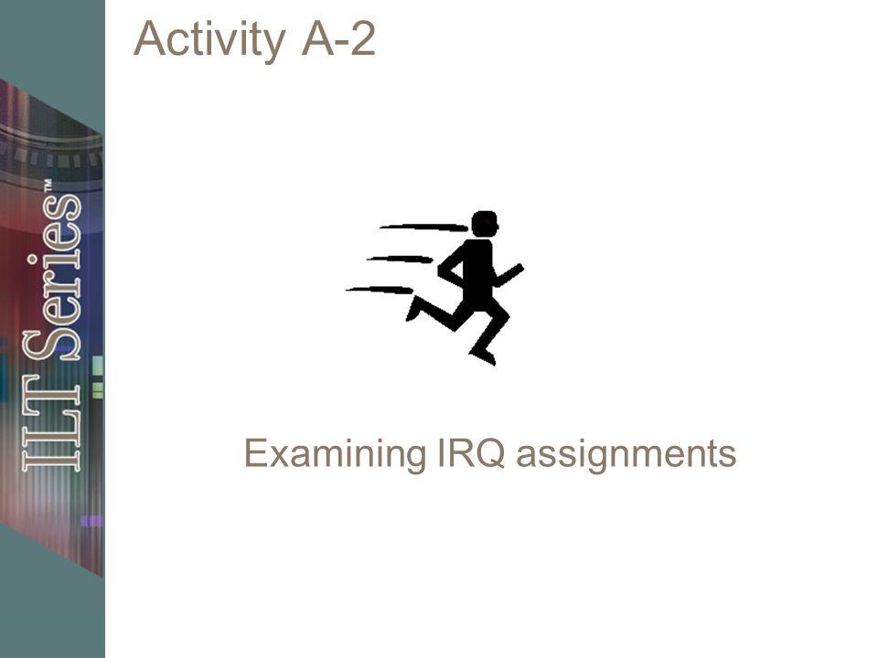 Examining IRQ assignments