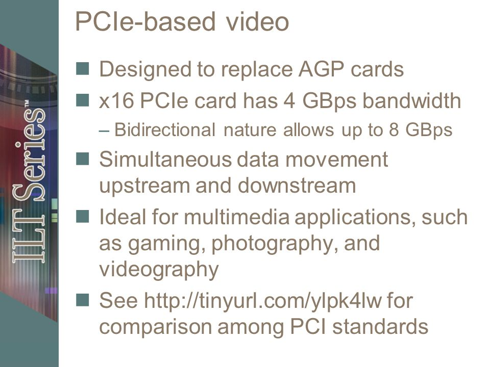 PCIe-based video Designed to replace AGP cards