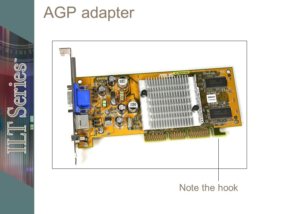 AGP adapter Note the hook 32