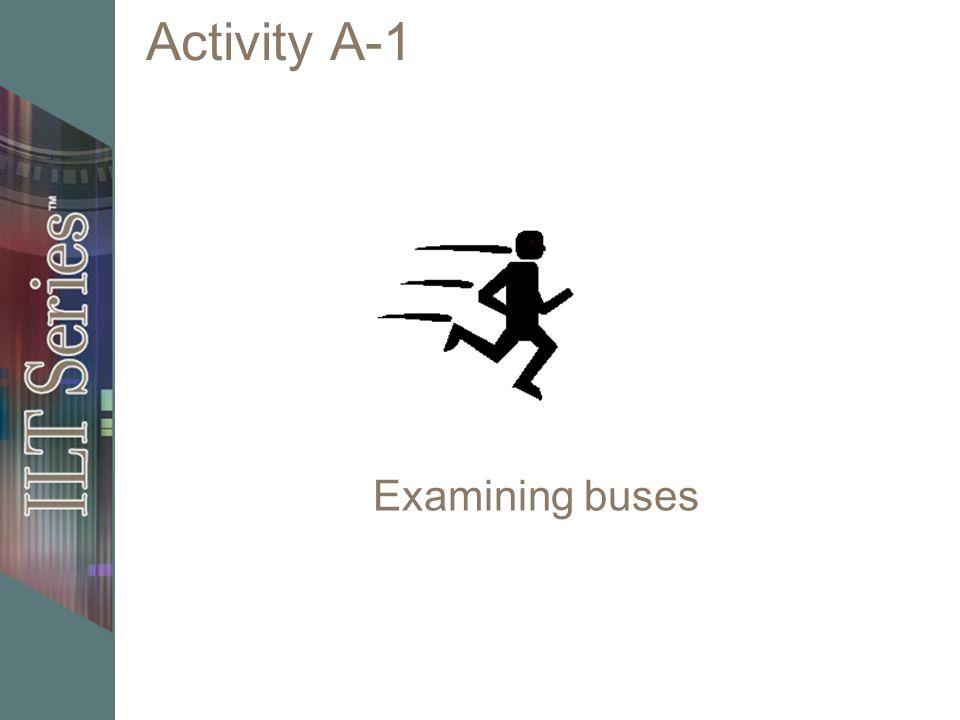 Activity A-1 Examining buses