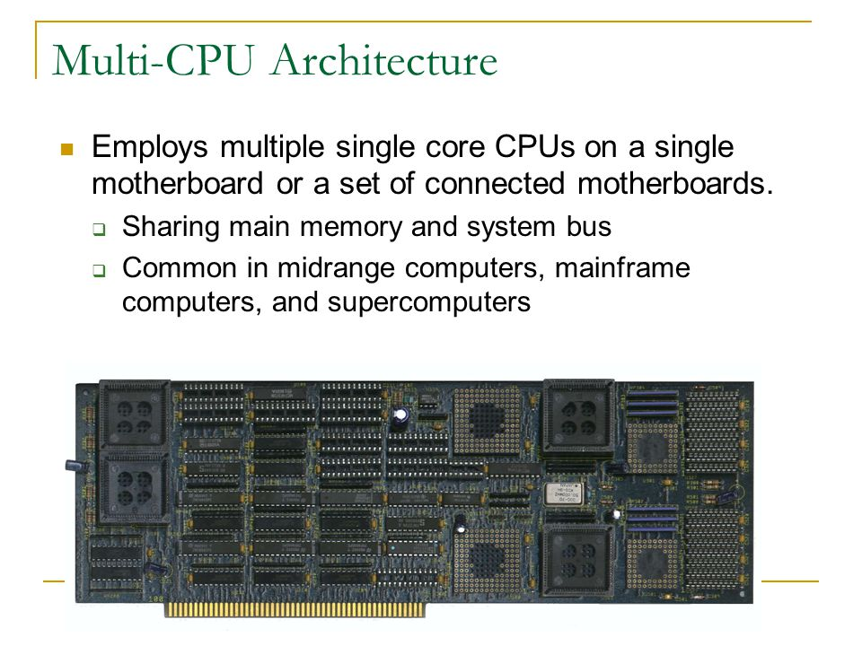 Multi-CPU Architecture