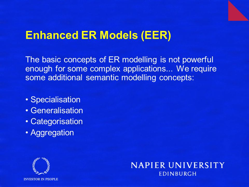 Enhanced ER Models (EER)