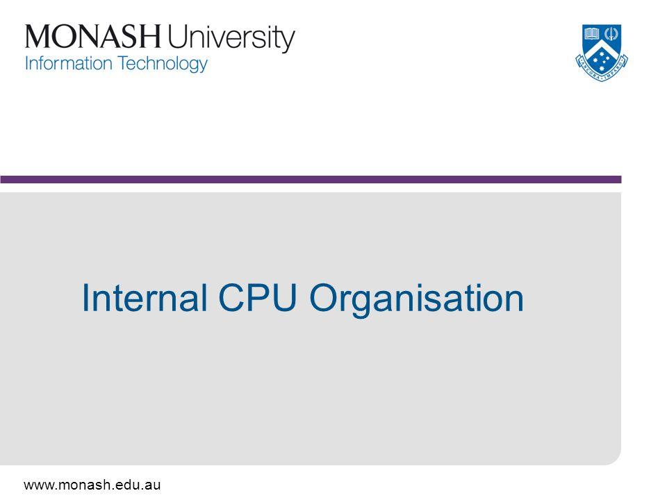 Internal CPU Organisation