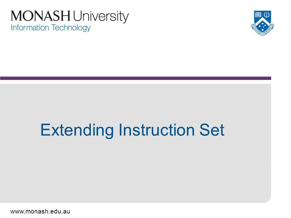 Extending Instruction Set