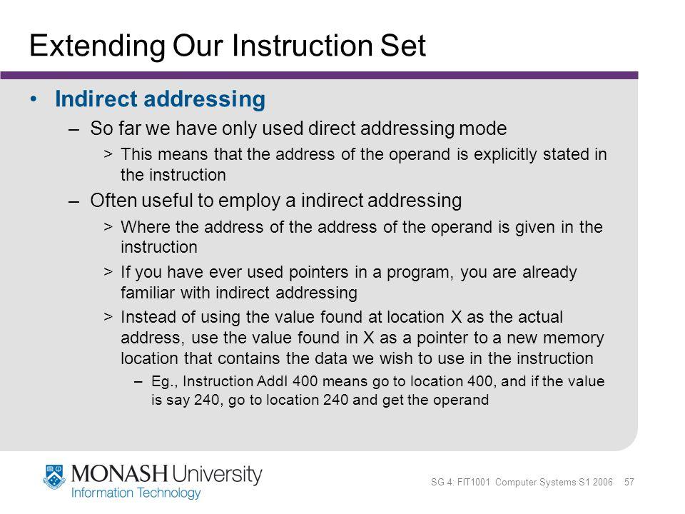 Extending Our Instruction Set