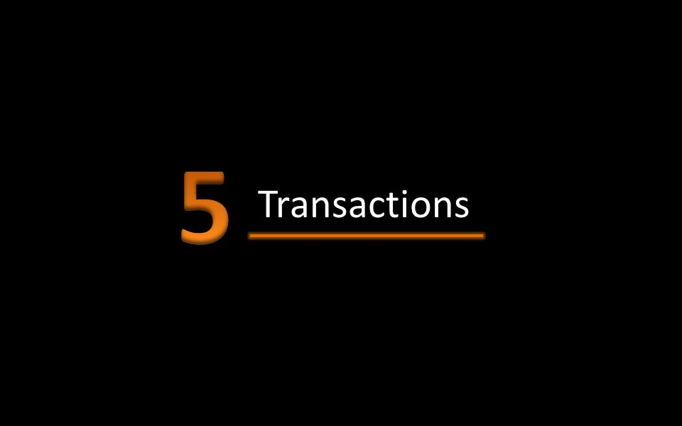 5 Transactions