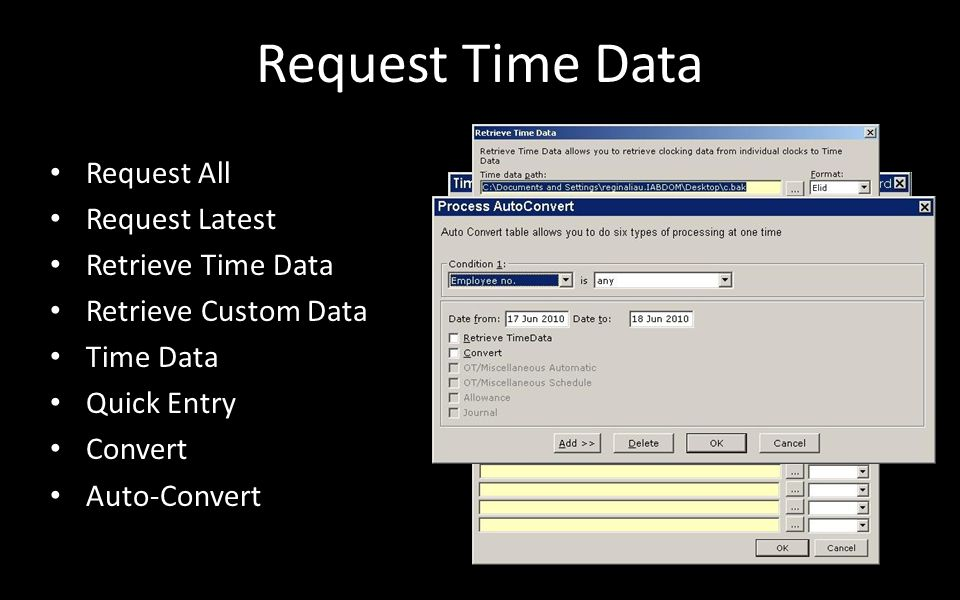 Request Time Data Request All Request Latest Retrieve Time Data
