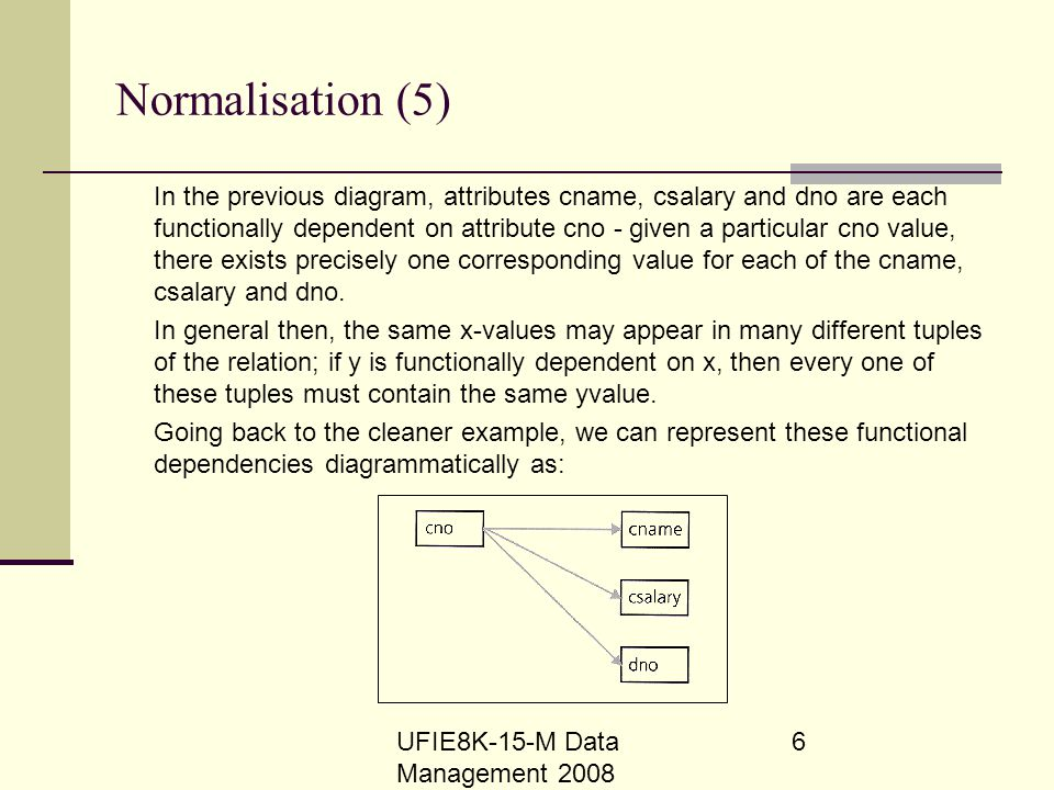 Normalisation (5)