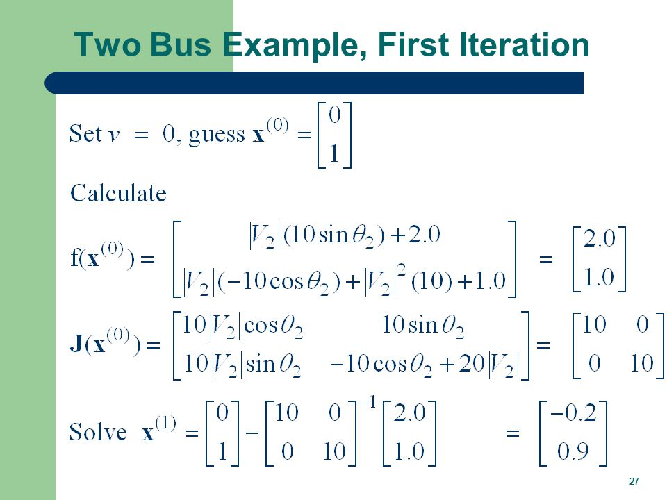 Two Bus Example, Next Iterations