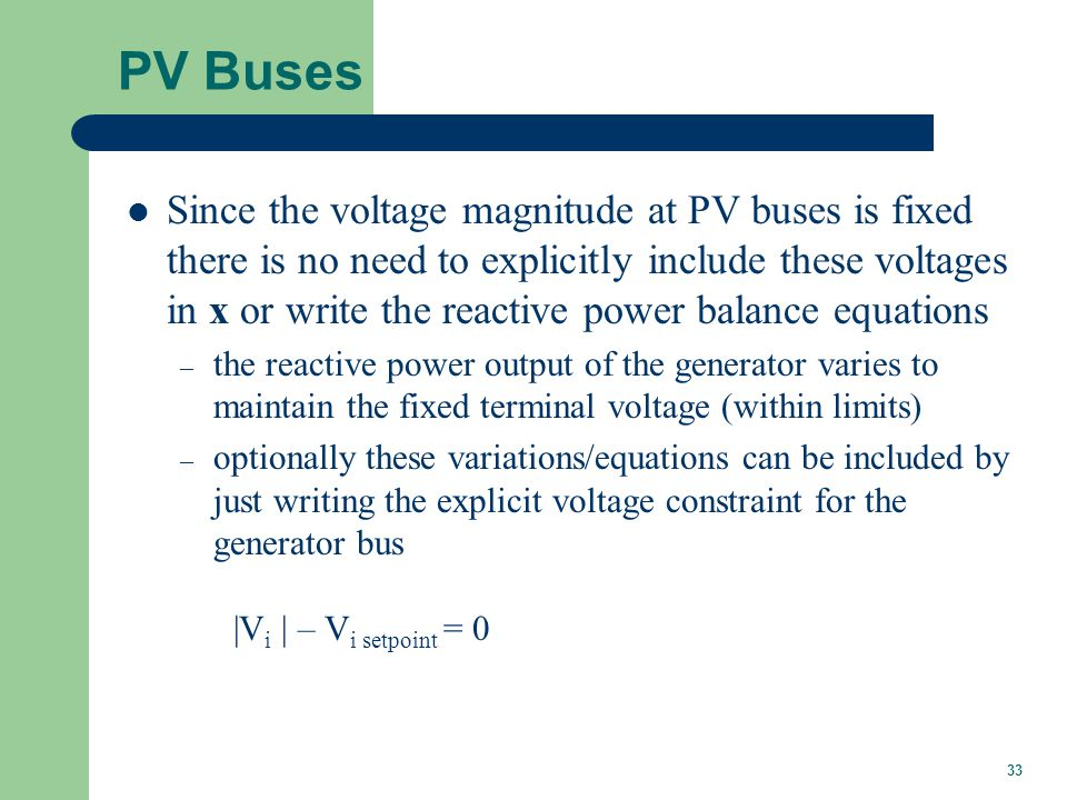 Three Bus PV Case Example