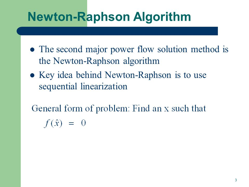 Newton-Raphson Method (scalar)