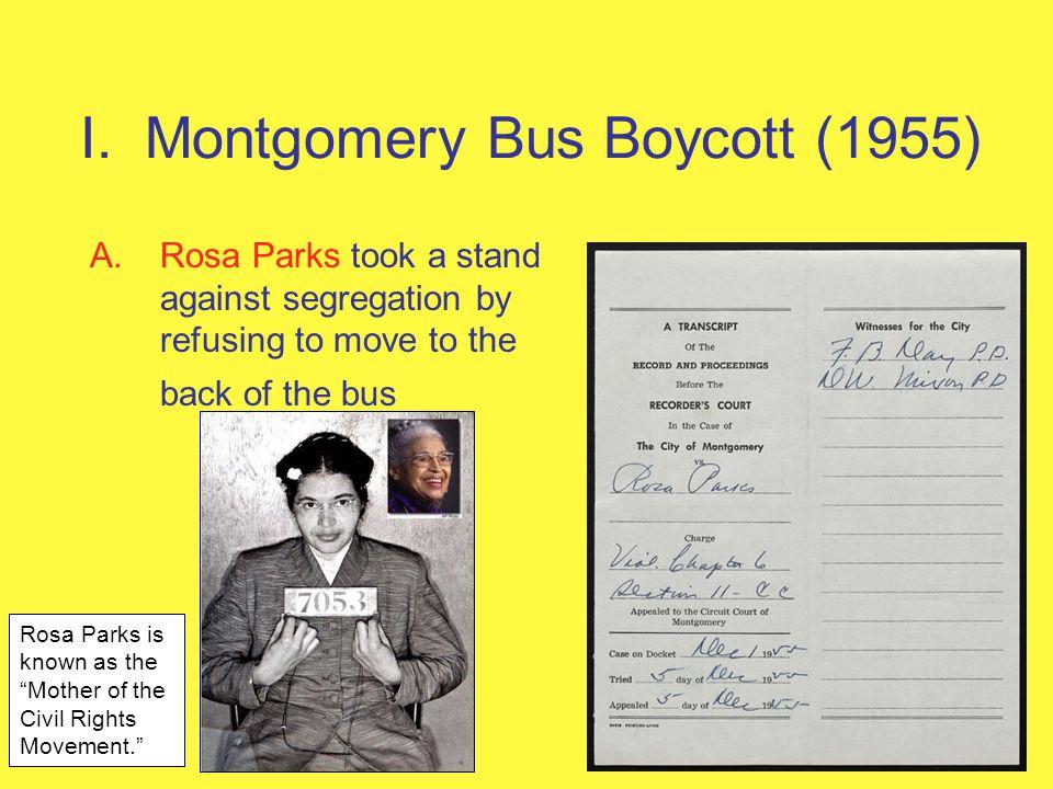 I. Montgomery Bus Boycott (1955)