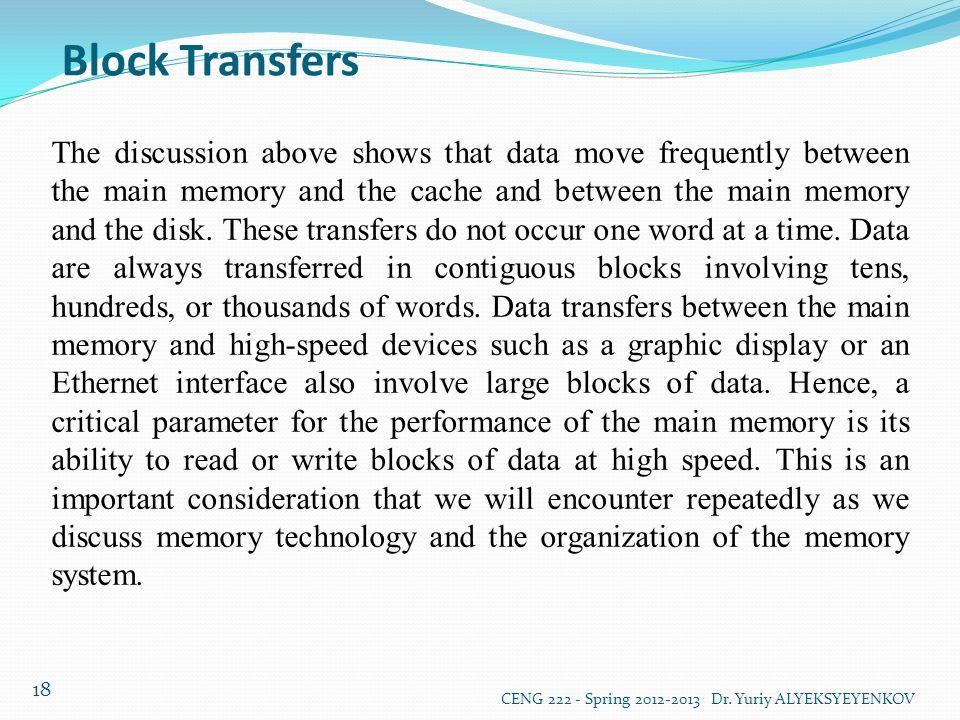 Block Transfers