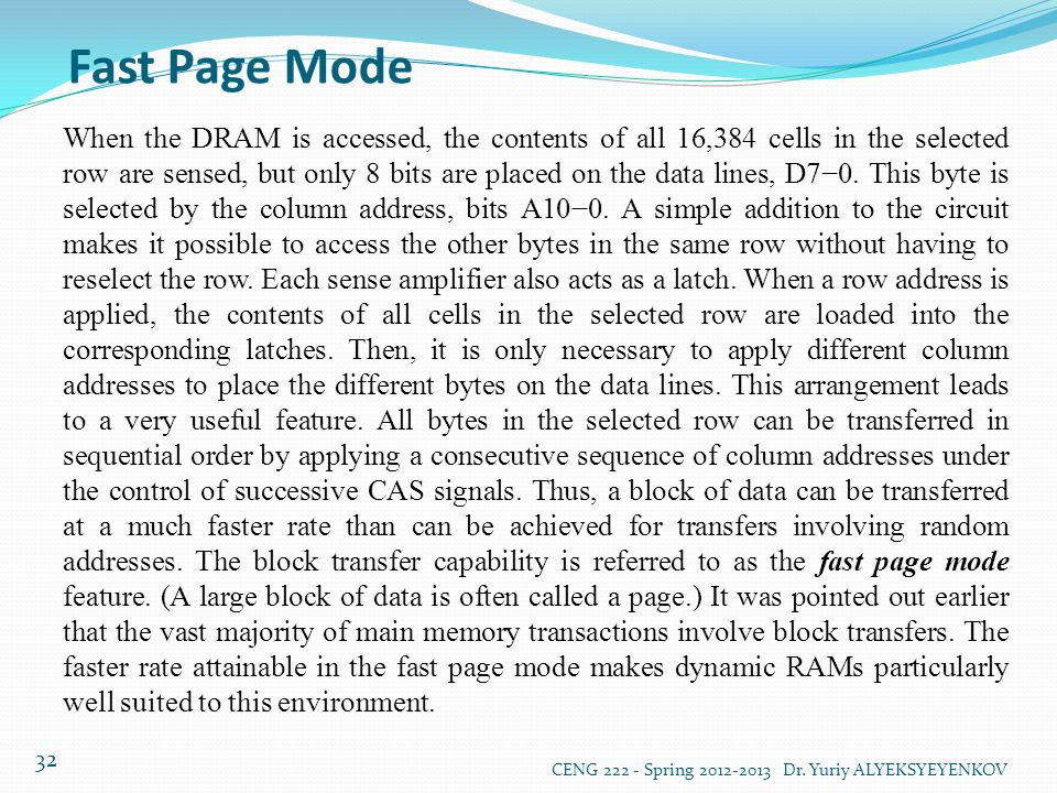 Fast Page Mode