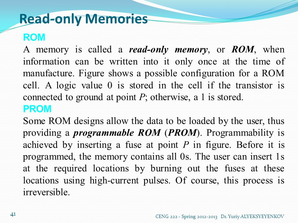 Read-only Memories ROM