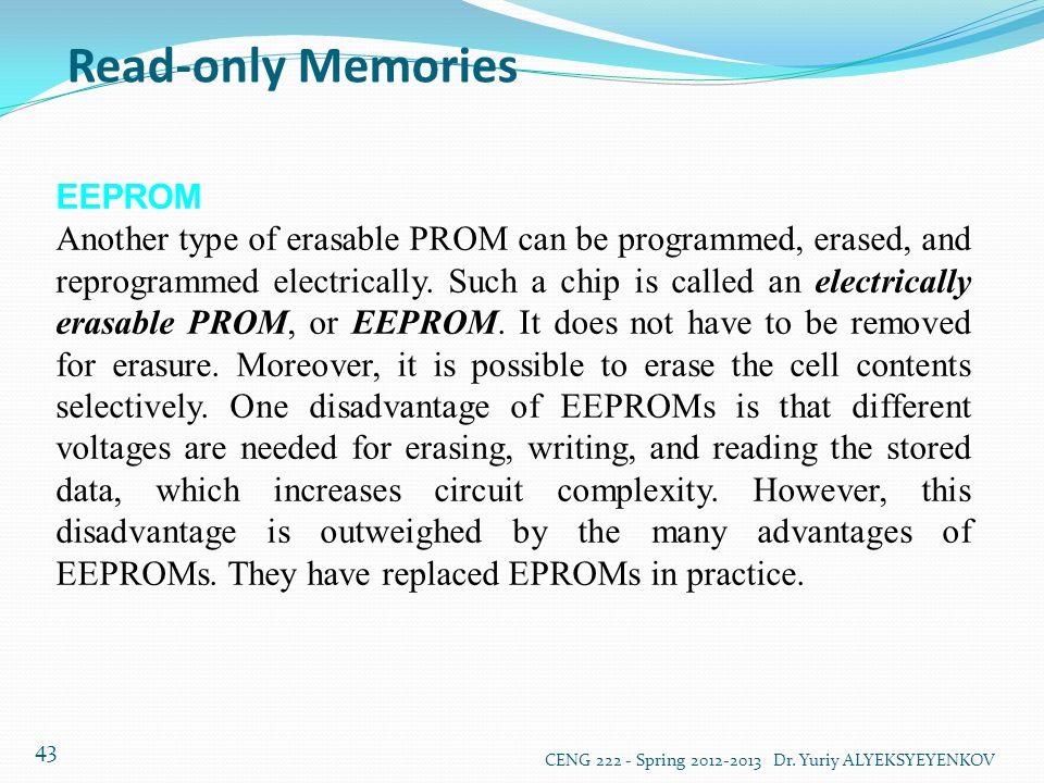 Read-only Memories EEPROM