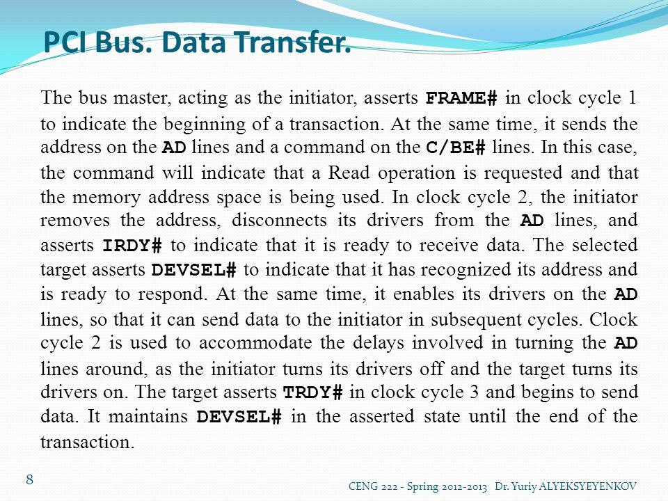 PCI Bus. Data Transfer.