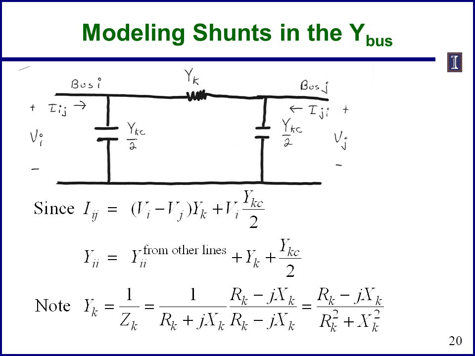 Modeling Shunts in the Ybus