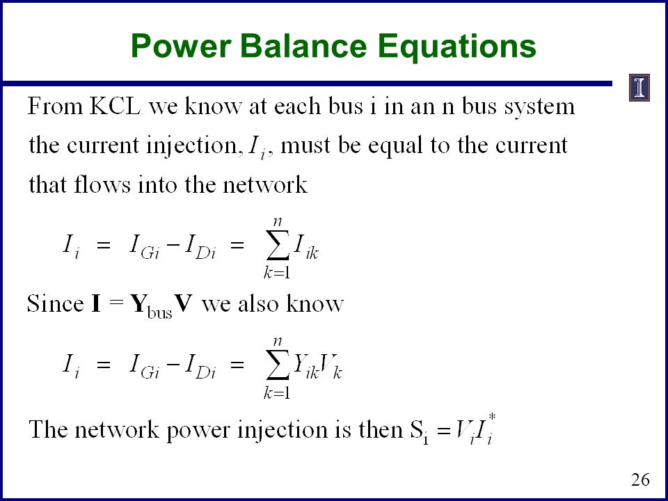 Power Balance Equations