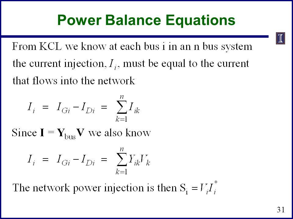 Power Balance Equations