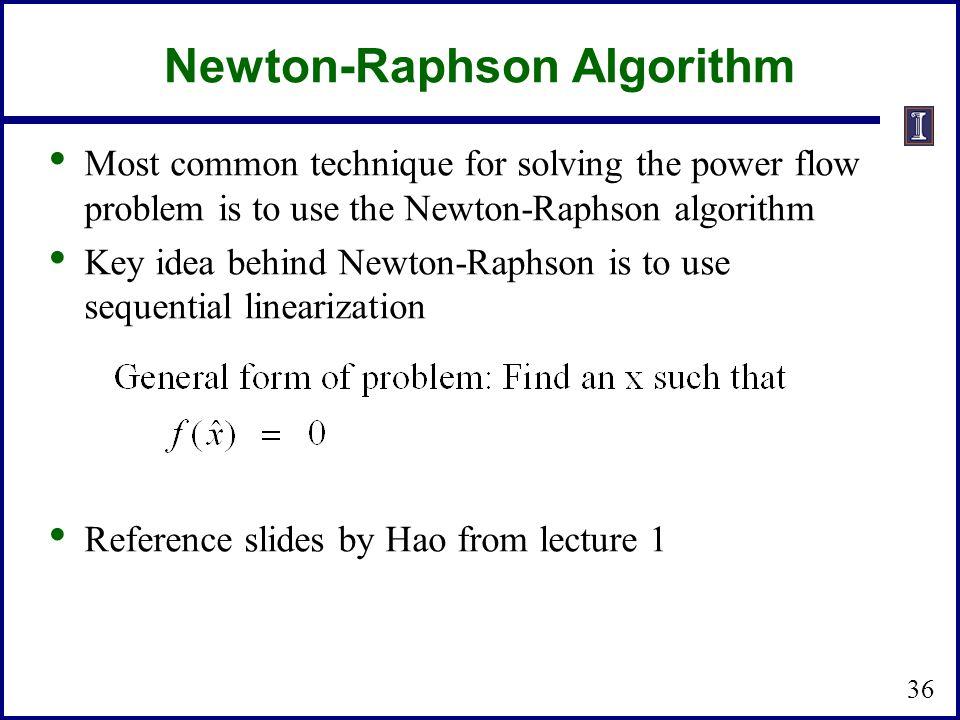 Newton-Raphson Algorithm
