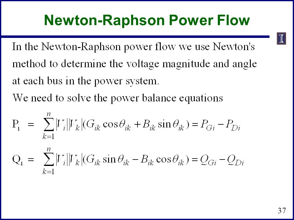 Newton-Raphson Power Flow