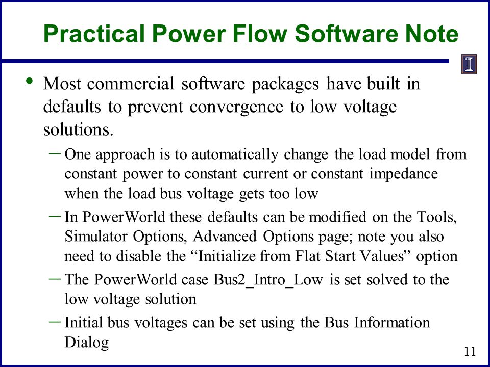 Practical Power Flow Software Note