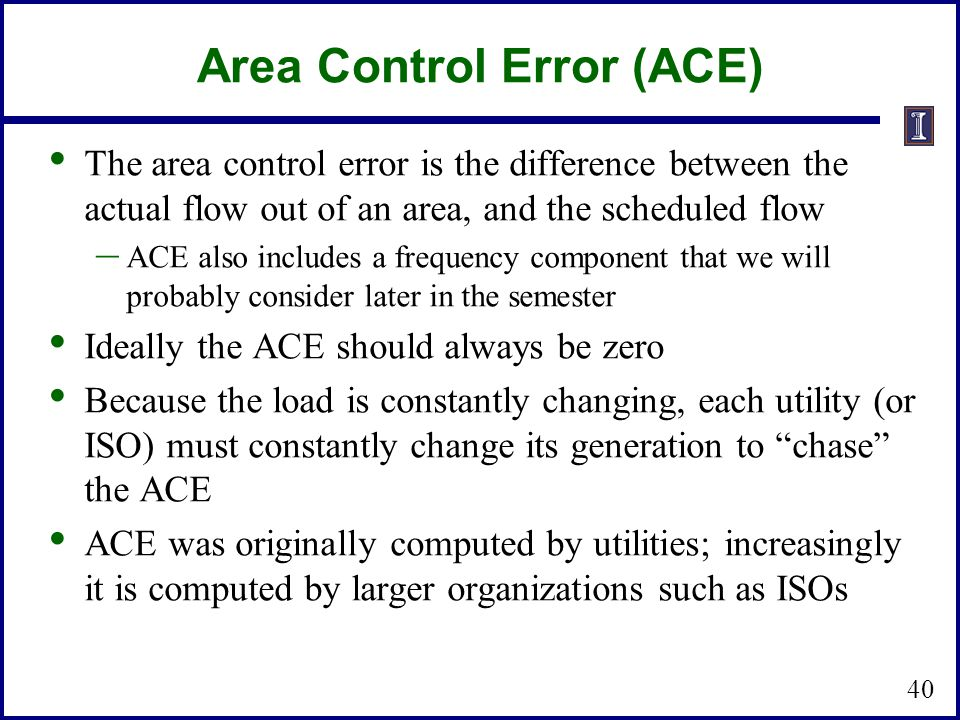 Area Control Error (ACE)