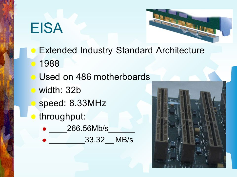 EISA Extended Industry Standard Architecture 1988
