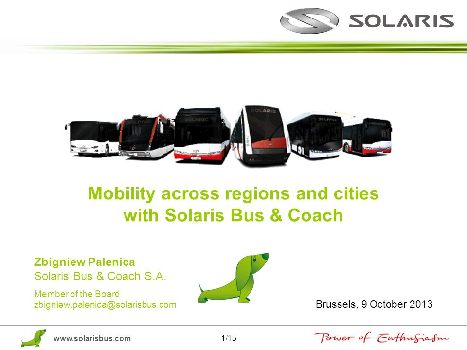 Mobility across regions and cities with Solaris Bus & Coach