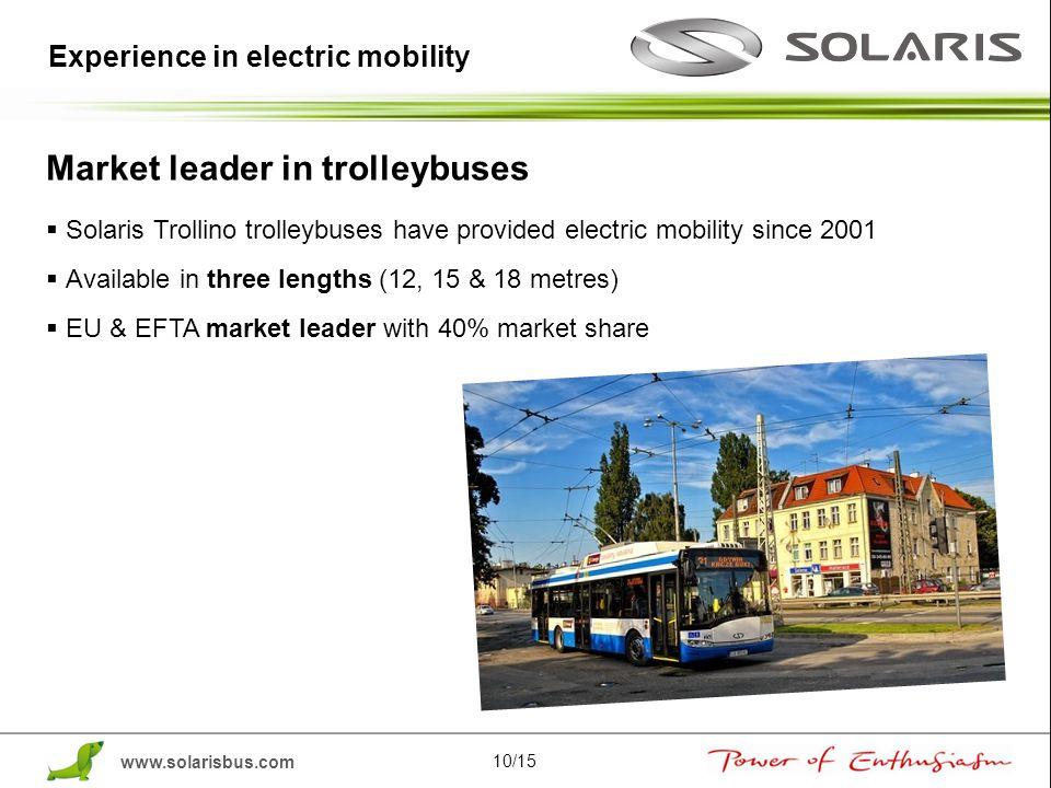 Market leader in trolleybuses