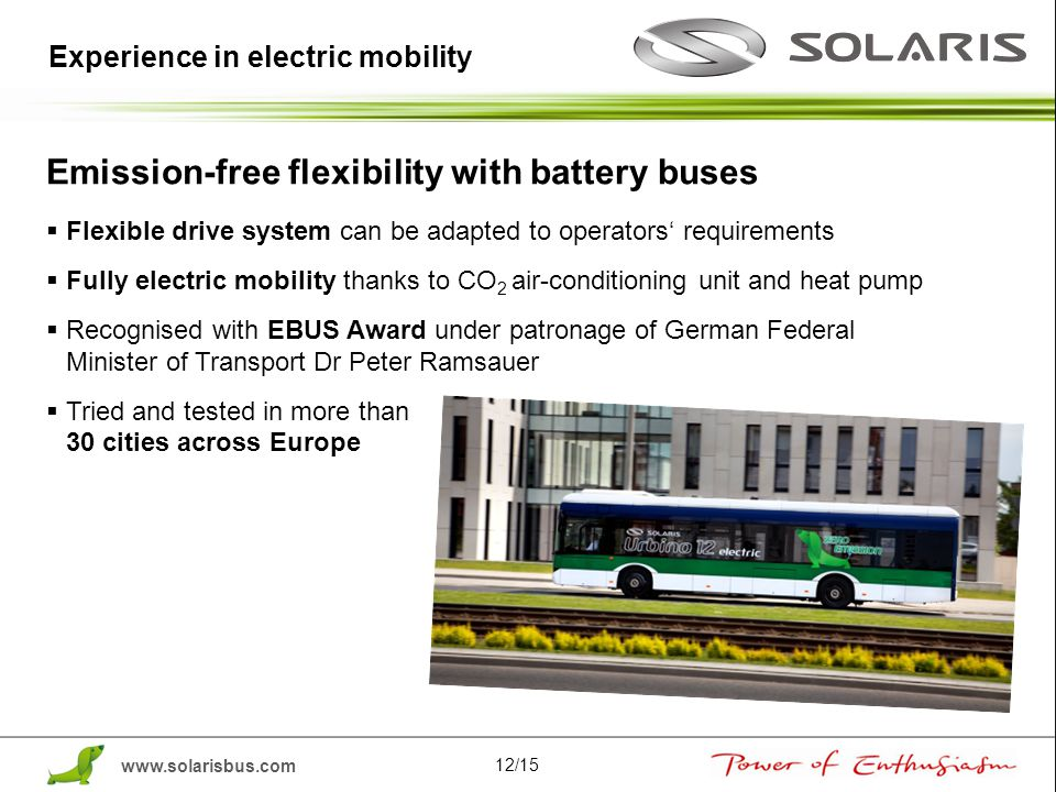 Emission-free flexibility with battery buses