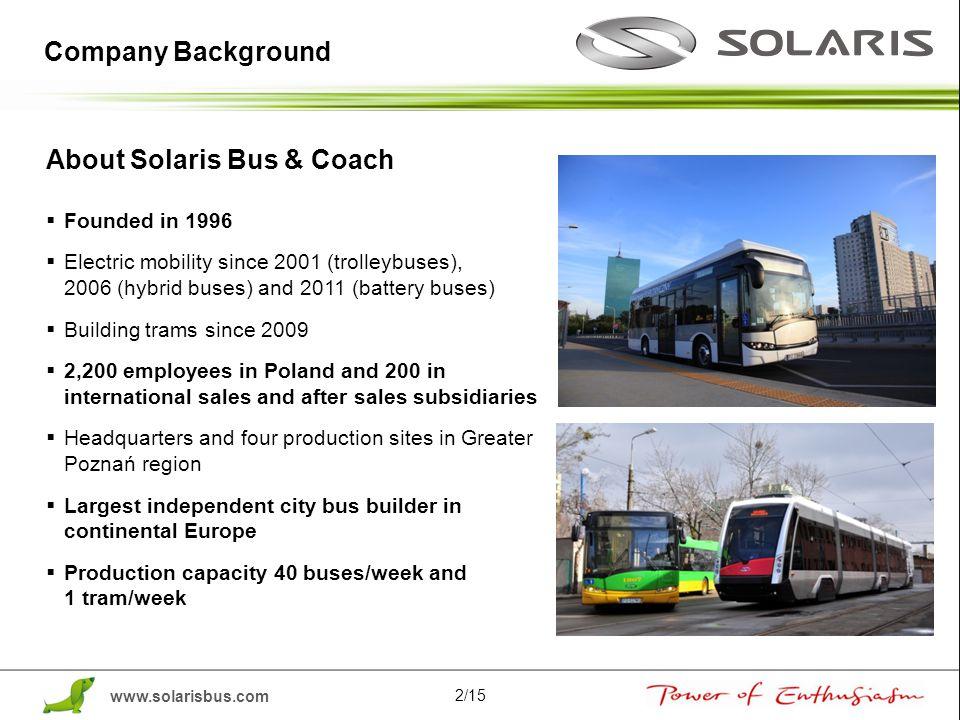 About Solaris Bus & Coach