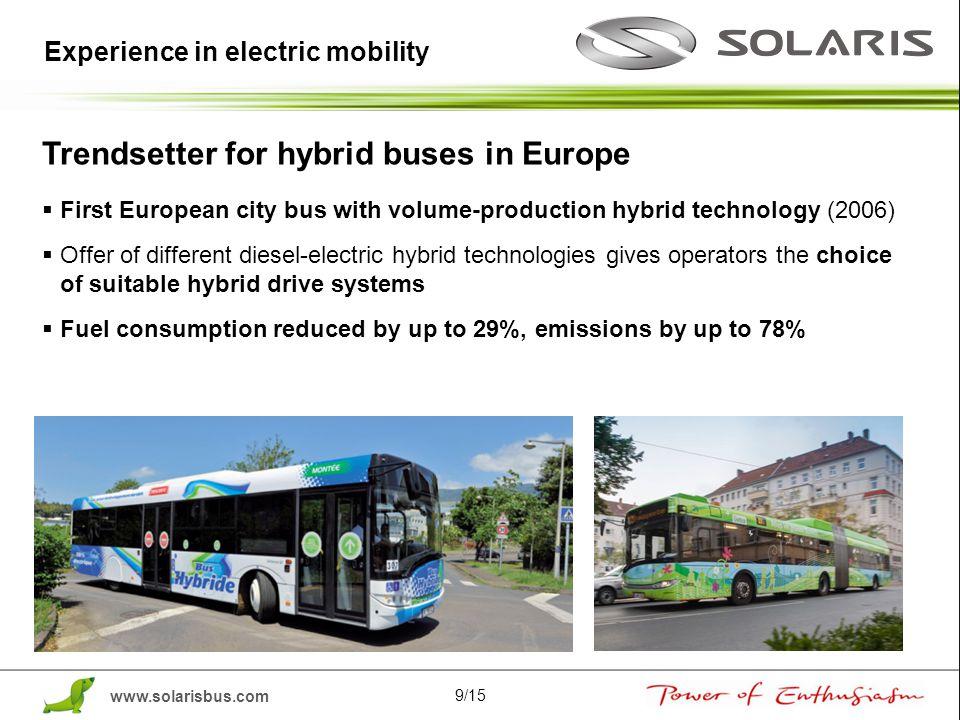 Trendsetter for hybrid buses in Europe