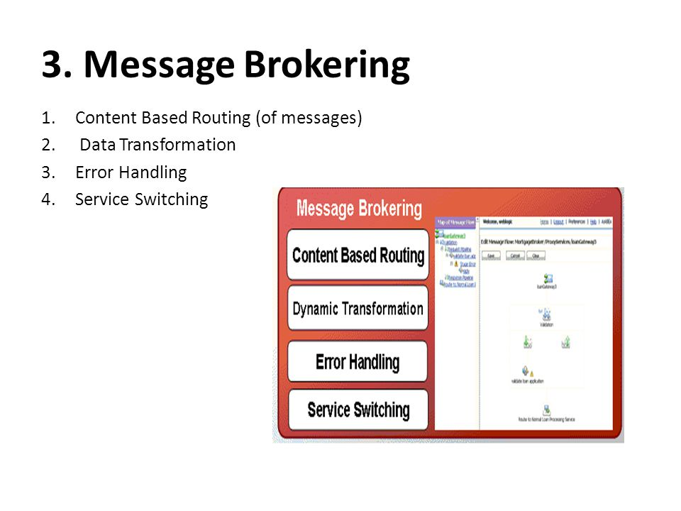 3. Message Brokering Content Based Routing (of messages)