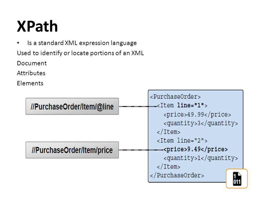 XPath Is a standard XML expression language