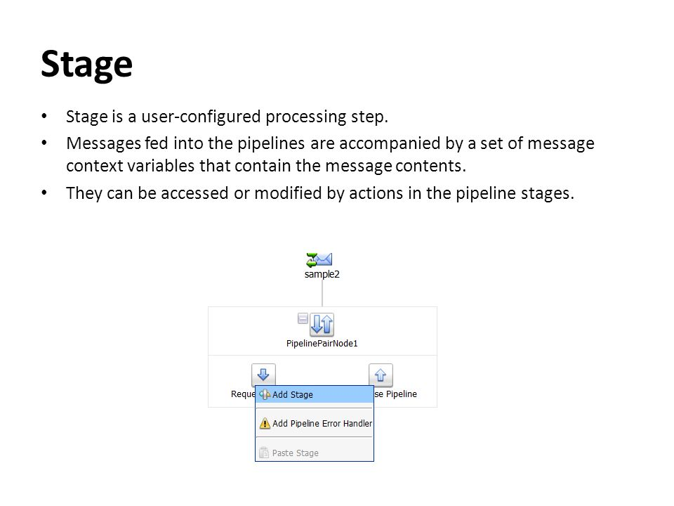 Stage Stage is a user-configured processing step.