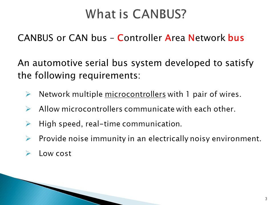 What is CANBUS CANBUS or CAN bus – Controller Area Network bus