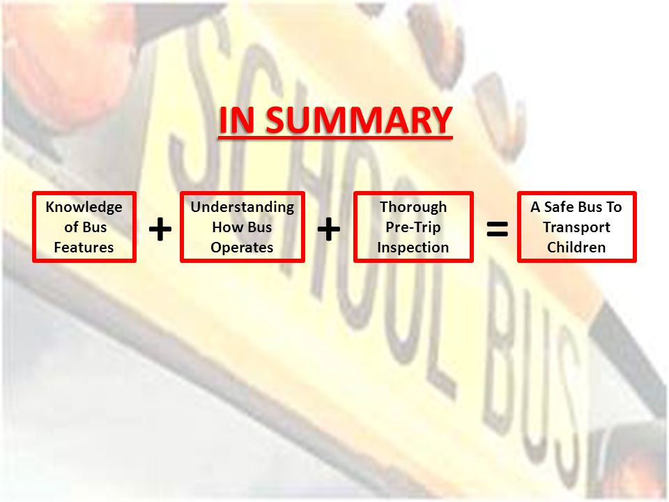 Understanding How Bus Operates A Safe Bus To Transport Children
