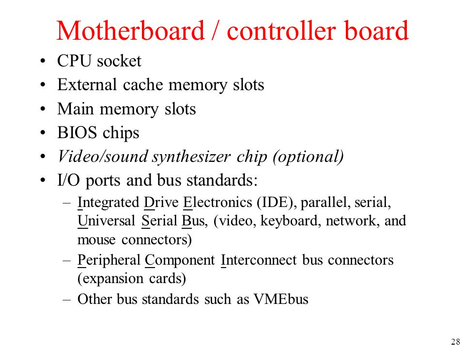 Motherboard / controller board