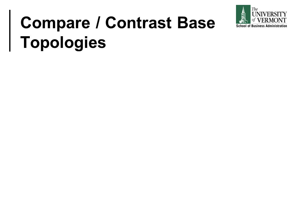 Compare / Contrast Base Topologies
