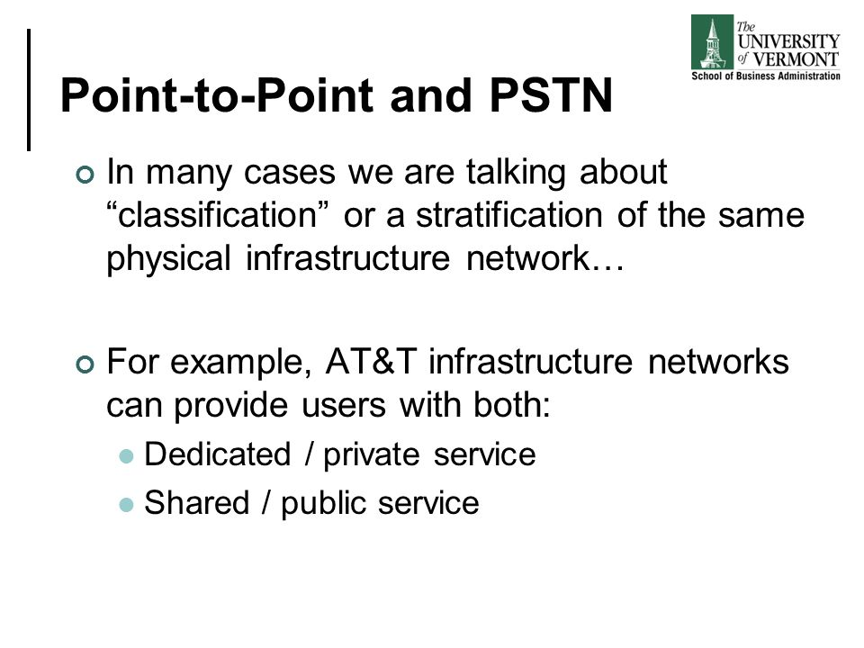 Point-to-Point and PSTN