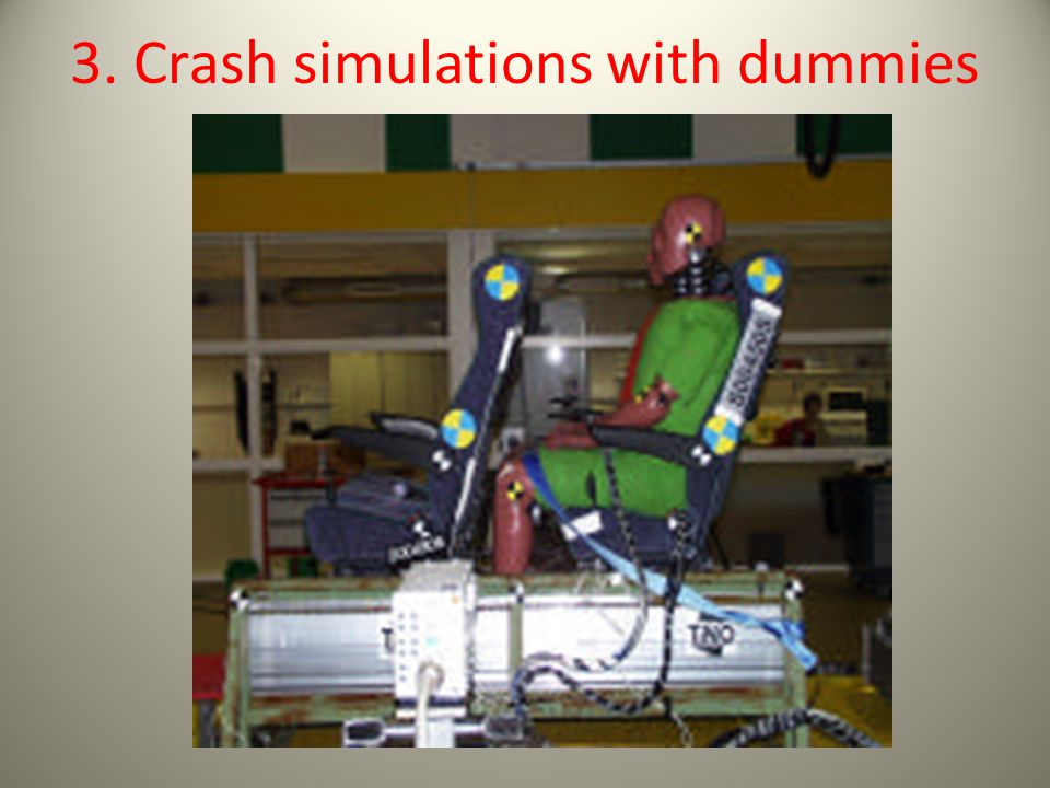3. Crash simulations with dummies